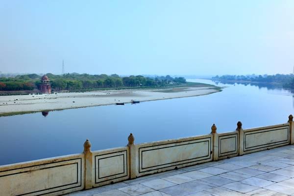 Yamuna River from Taj Mahal - Agra - India