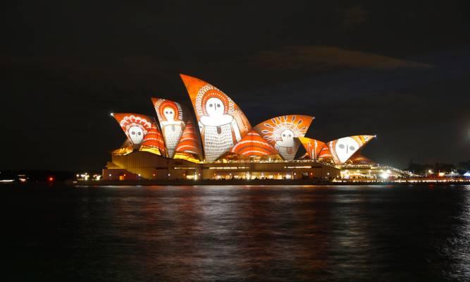 Vivid Sydney on the Sydney Opera House, Sydney, Australia