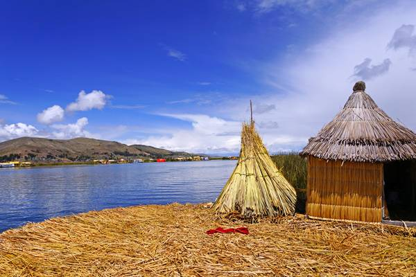 Titicaca view from a floating island