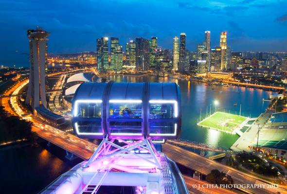 Views from Singapore Flyer
