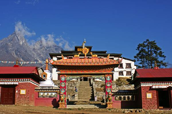 Gate to Tengboche monastery