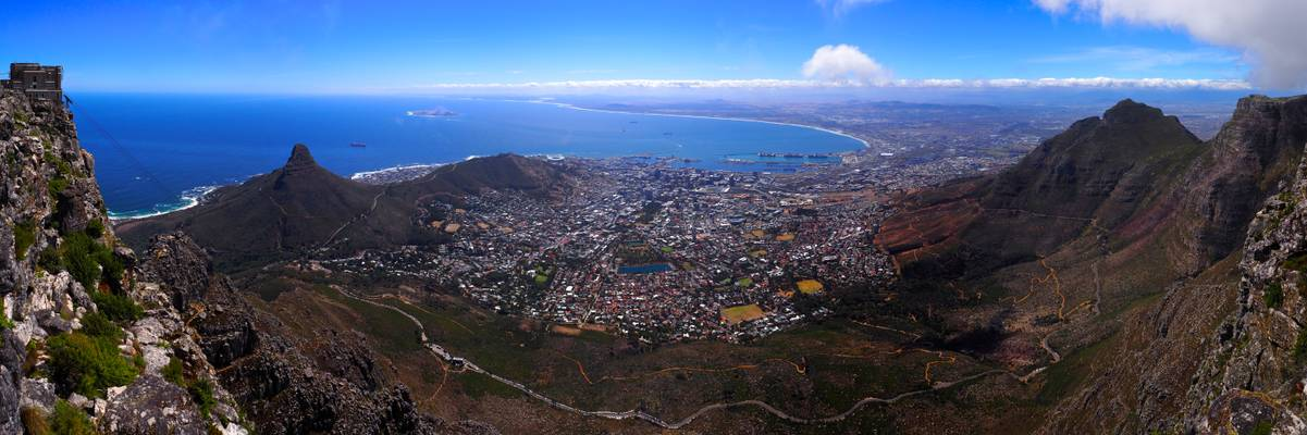 Wide Panorama from Table Mountain, Cape Town [RSA]
