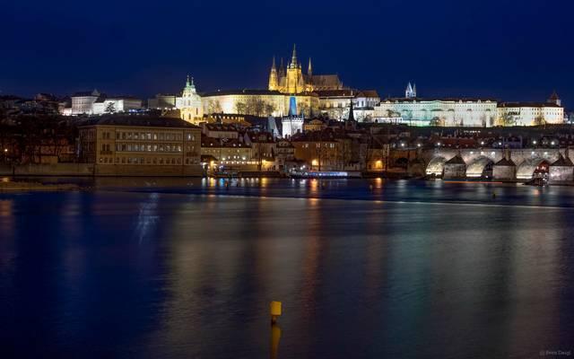 Blick auf die Prager Burg [Pražský hrad]
