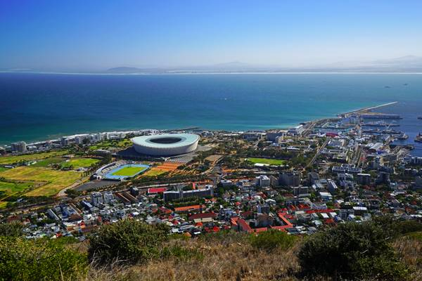 Fabulous view of Cape Town from Signal Hill, South Africa
