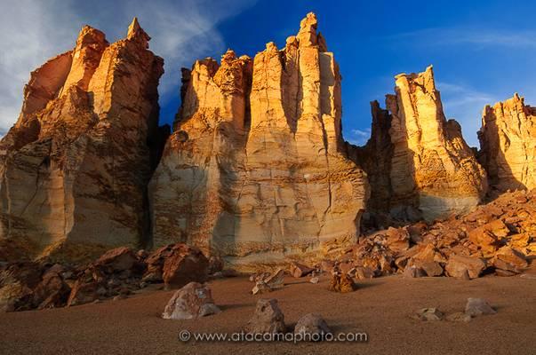 Rock cathedrals of Tara, catedrales de Tara, altiplano of Chile