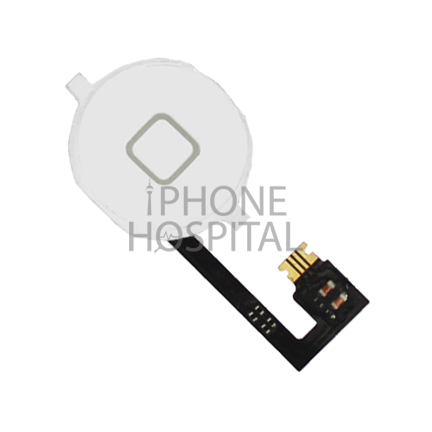 Home-Button in Weiß mit Flex-Kabel für iPhone 4