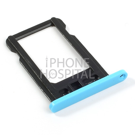 SIM-Tray in Blau für iPhone 5C