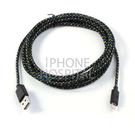 Lightning auf USB Kabel 3m Schwarz Geflochten für iPad 4 / 5 / 6 / iPad mini 1 / 2 / 3