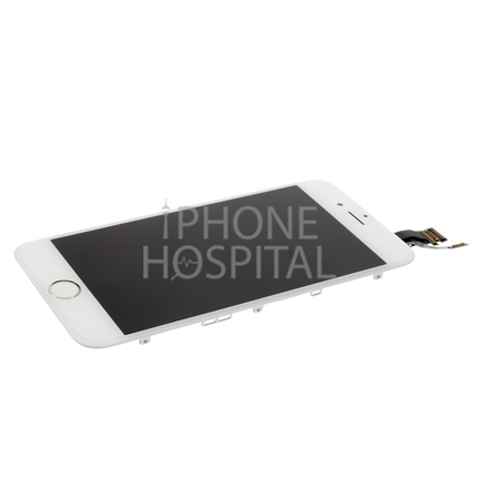 Display in Weiß (mit Zierring in Silber) für iPhone 6 Plus