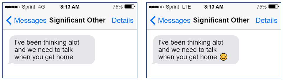 text message misunderstood without emoji