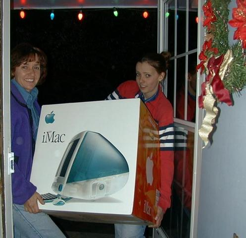 mom and bethany bring the evil imac into the house