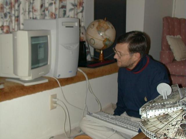 dad checks nerc's website for y2k updates