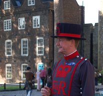 Scottish Beefeater at the Tower of London