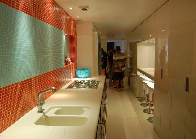 Basement flat kitchen corridor