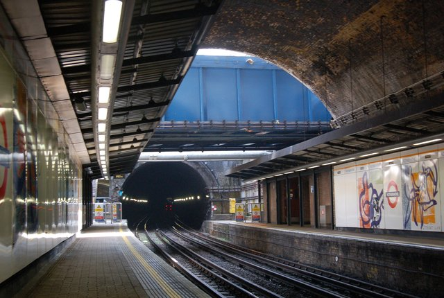 Rotherhithe Station with Victorian brick vaulting