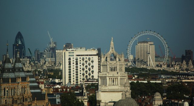 Central London from our hotel window