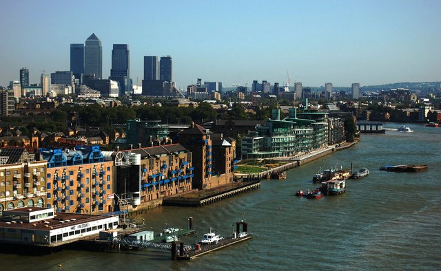 Isle of Dogs from the Tower Bridge