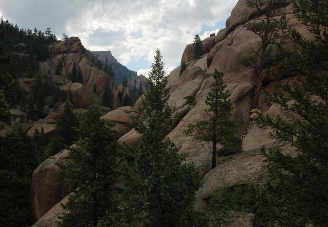 Rounded granite terain, Lost Creek Wilderness