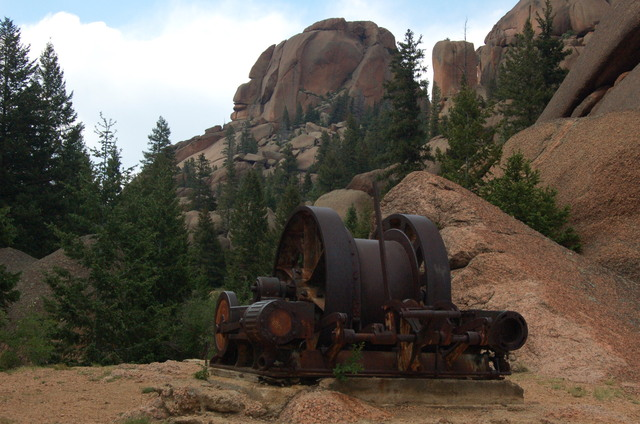 Machinery at the shafthouse, Lost Creek Wilderness