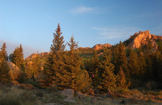 Dawn at camp in Lake Park, Lost Creek Wilderness