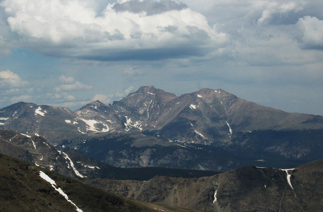 Longs Peak and Mount Meeker from Sawtooth Mountain
