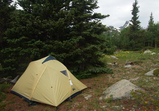 Camp at Coney Flats below Sawtooth Mountain