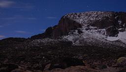 Longs Peak from the Boulderfield before dawn