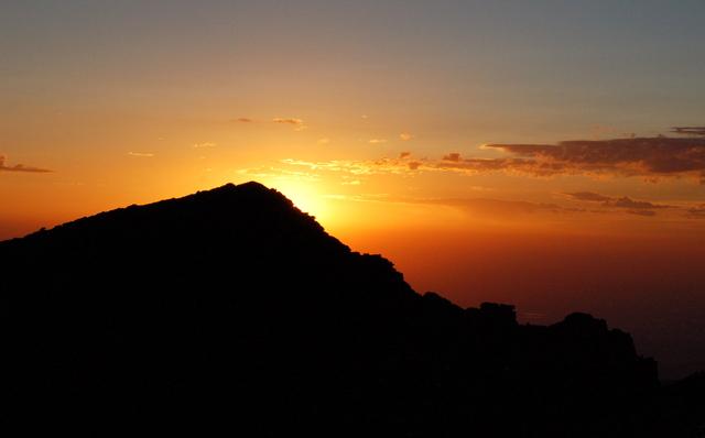 Sun rise over Mount Lady Washington