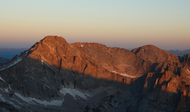 First light on McHenrys Peak