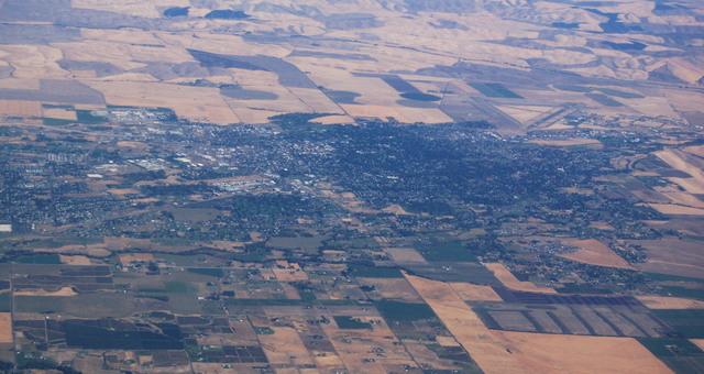 Walla Walla from the air