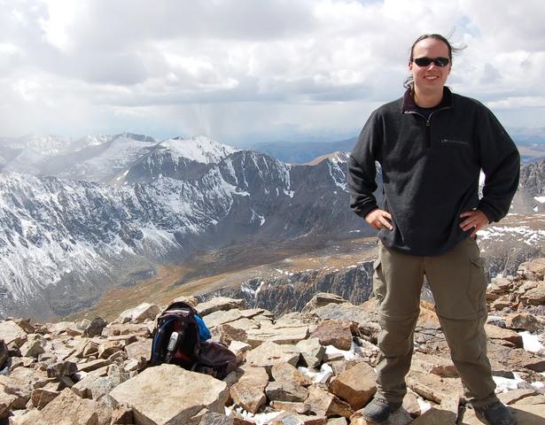 Jaeger on Quandary Peak