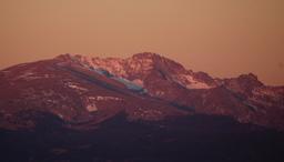 Morning sunlight on Arapaho Peaks