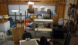 Basement stuff stored in the garage