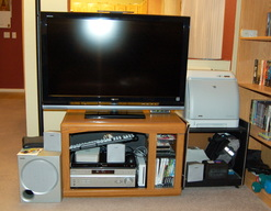 Entertainment center with all-new 1080p LCD