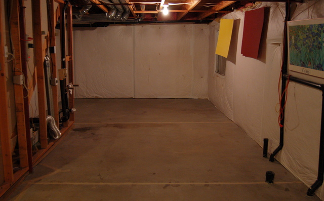 Basement empty and ready for carpet