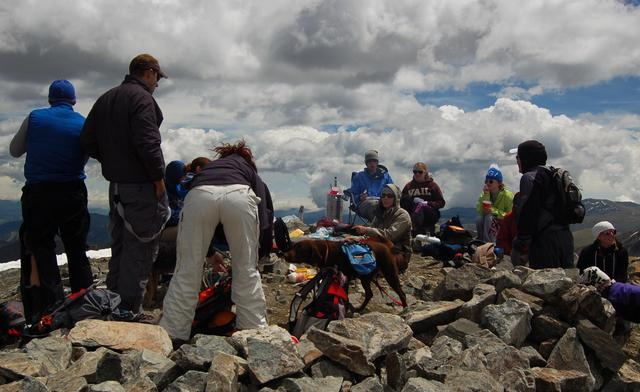 Fourth of July party on Torreys Peak