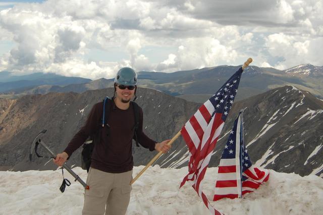 Jaeger on the summit of Torreys Peak