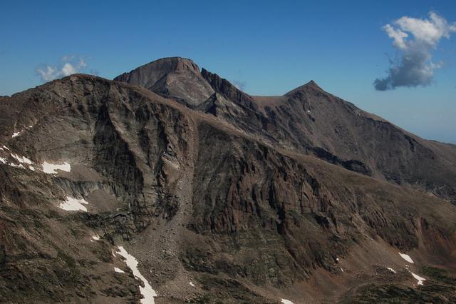 Chief's Head Peak, Longs Peak, Pagoda Mountain, and Mount Meeker