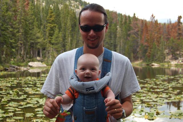 Calvin and Jaeger at Nymph Lake