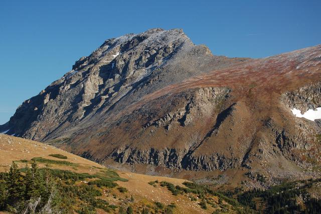 Arapaho Peak in September snow
