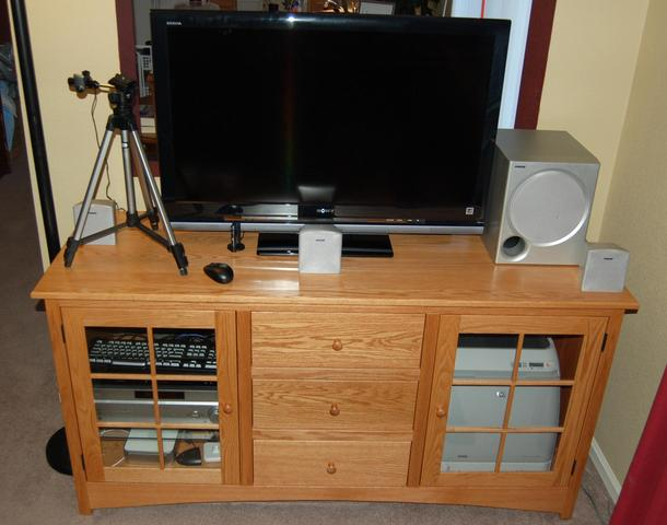 The new entertainment cabinet