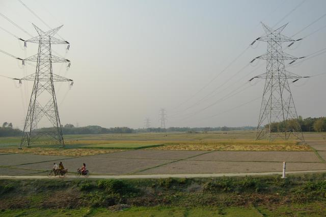 West Bengal high-voltage power lines