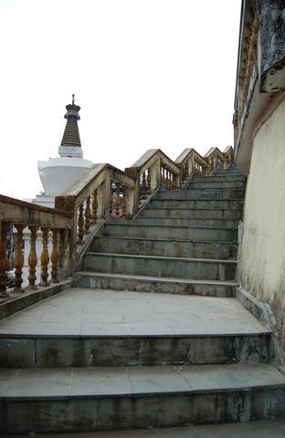 Main steps at Sakya Choling Gompa