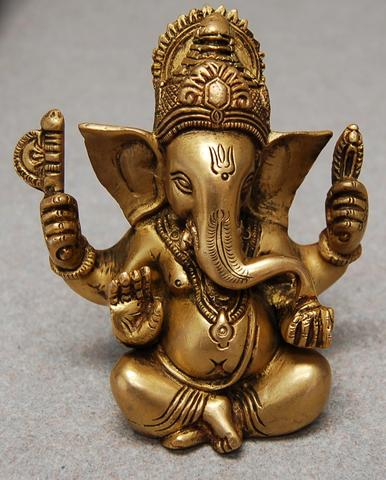 Ganesh at work, removing obstacles from my desk