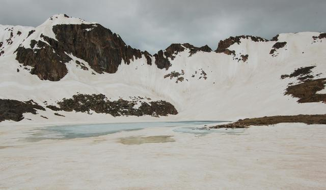 Lake Dorothy and Mount Neva's north ridge