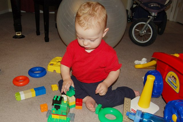 Calvin builds with Duplos