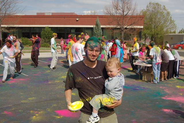Jaeger and Calvin after Holi