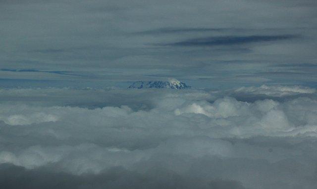 Mount Rainier from Mount St. Helens