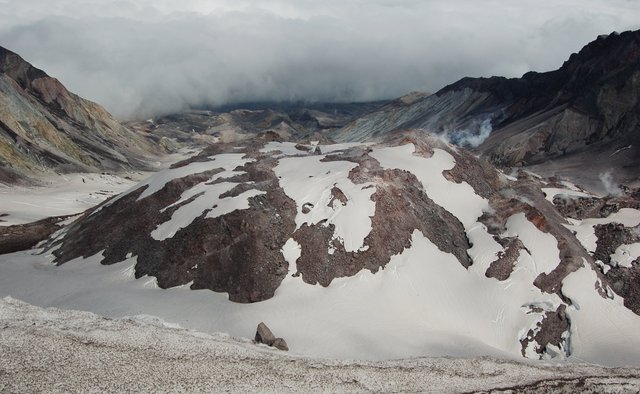 Lava dome in Mount St. Helens' 1980 crater