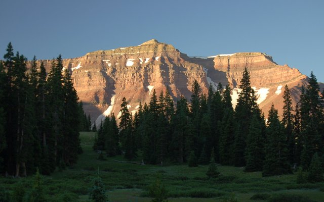 Fortress Peak in early morning